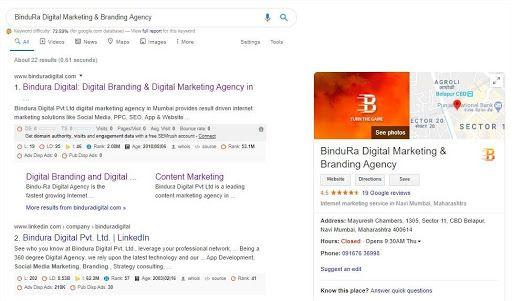 How Google My Business Look - Bindura Digital Marketing Company